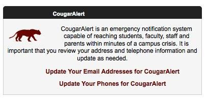 Cougar Alert Widget image