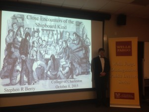 Dr. Stephen Berry poses at the Wells Fargo Distinguished Public Lecture Series Event