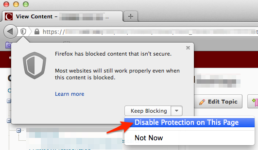 Unblock OAKS Content in Chrome and Firefox