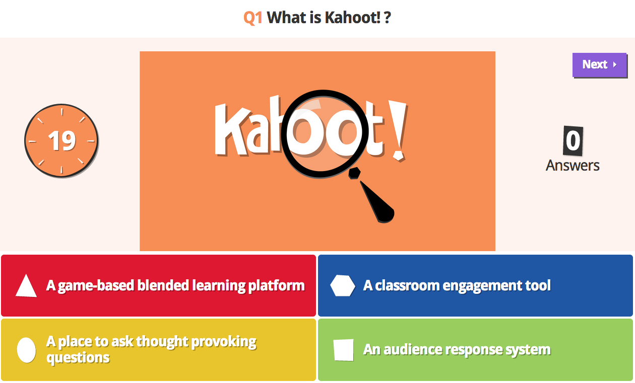Create In-class Competitions Using Kahoot!