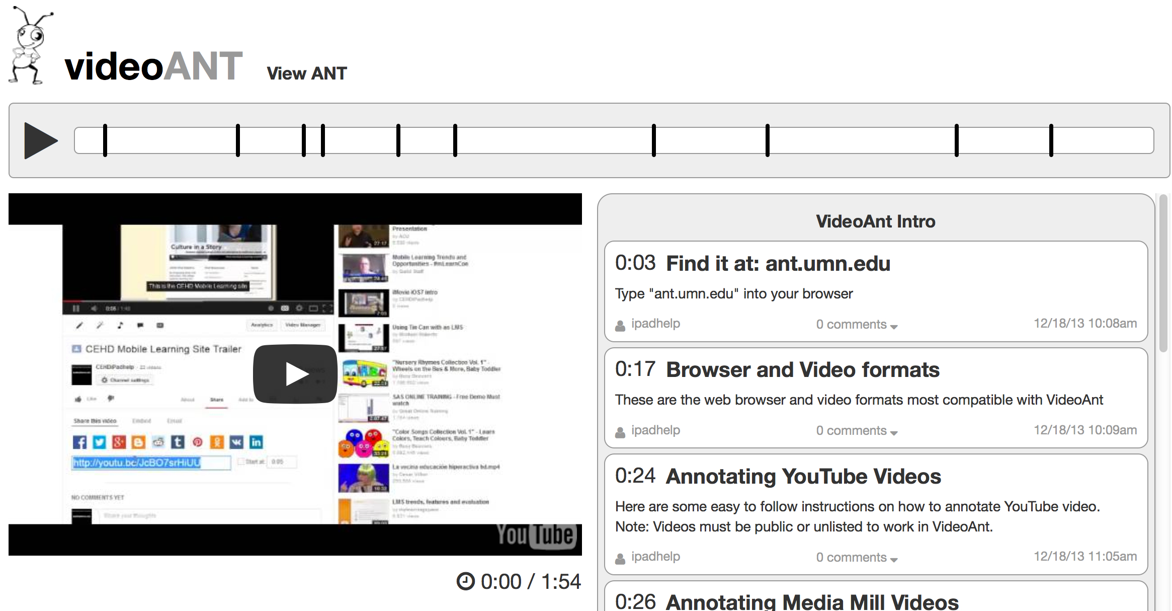 VideoANT for Quick and Easy Video Annotations