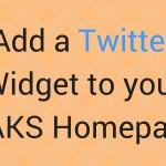 Add Twitter Widget to OAKS