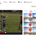 Youtube editing interface