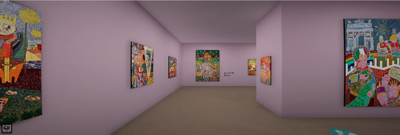 screenshot of an art gallery