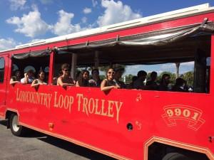 Beach Day 2015- trolley ride2