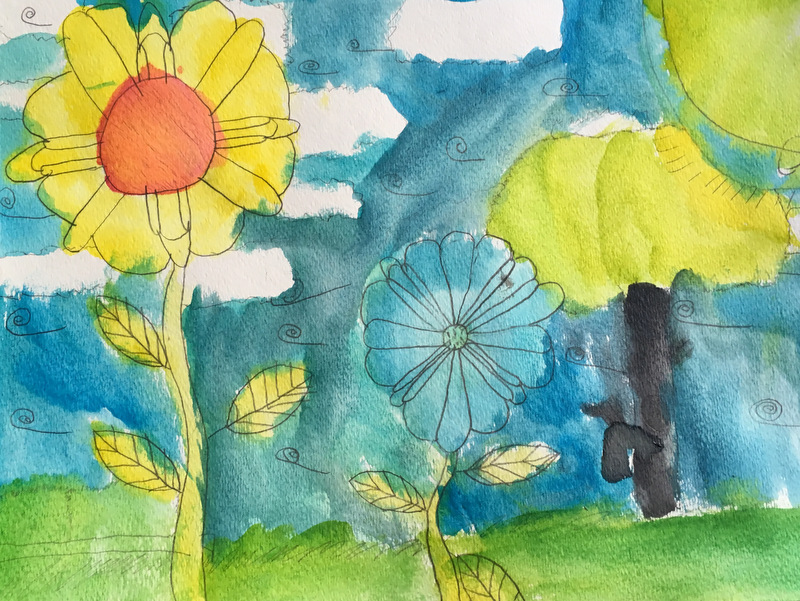 child's watercolor