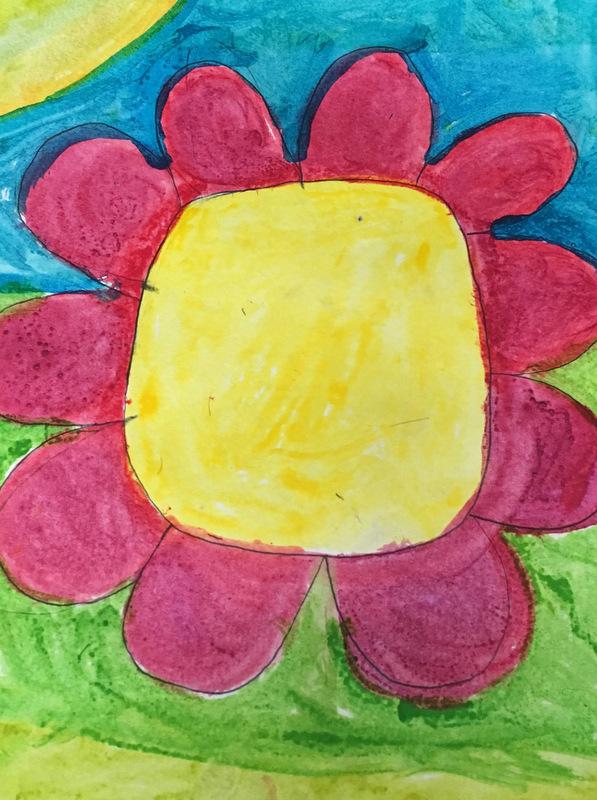 child's watercolor