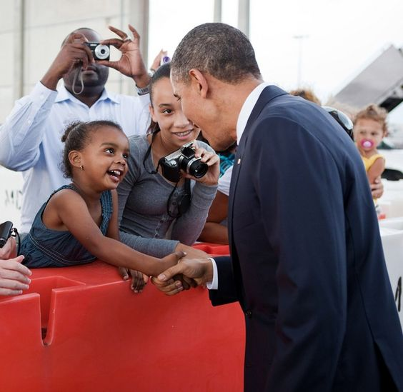 Little Girl and Obama