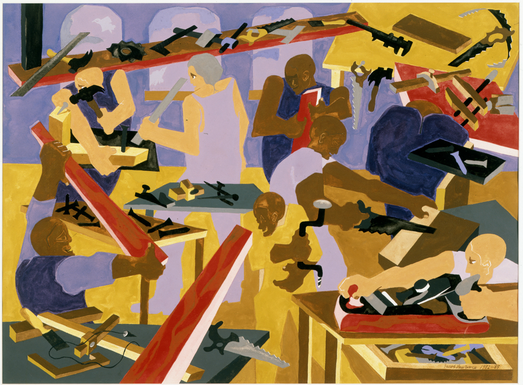 Study for Eight Builders, Jacob Lawrence