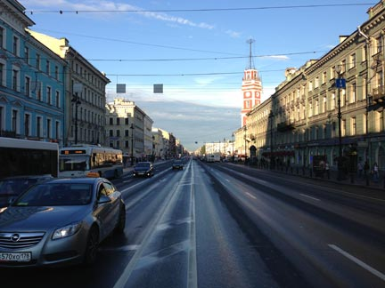 Nevsky Prospect at 11 PM