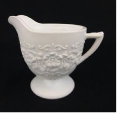 Orange Blossom White Milk Glass, 1950's