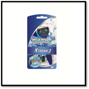 Wilkinson Sword Company Disposable Razor. http://www.premierexports.co.uk/2835-3300-thickbox/wilkinson-sword-extreme-comfort-3-blade-disposable-razors.jpg