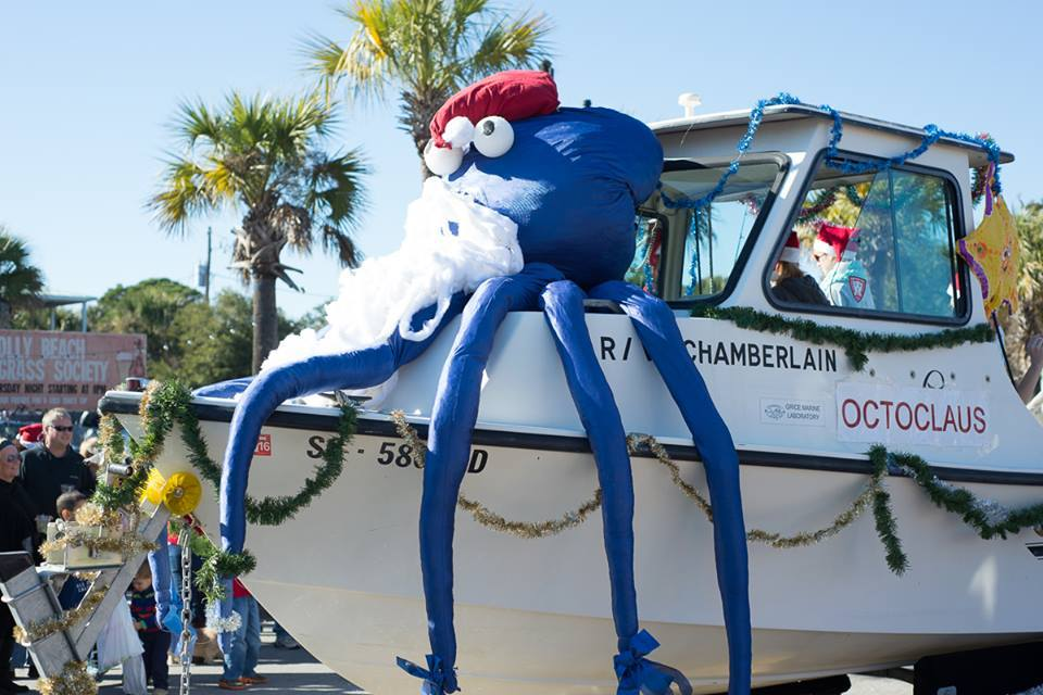 Boat Decorated For Folly Beach Parade