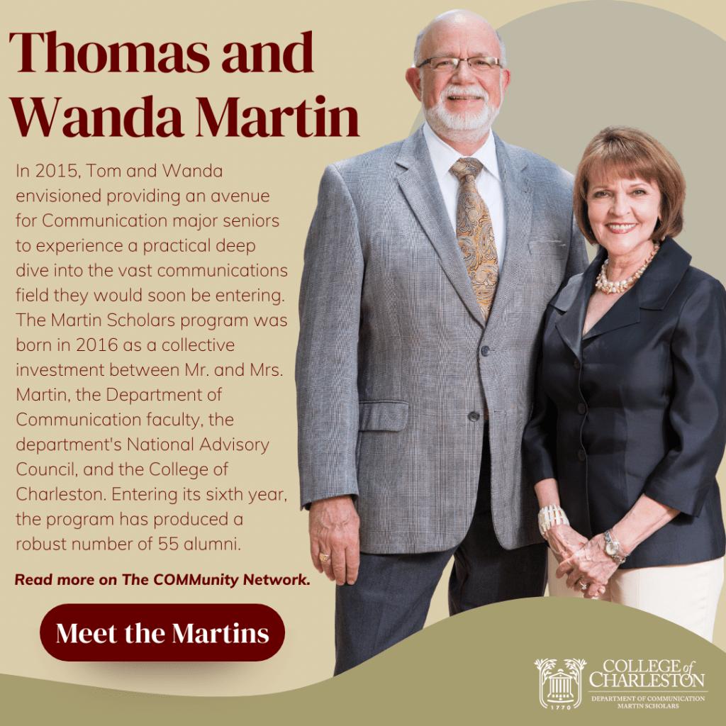 Mr. Thomas Martin and Mrs. Wanda Martin