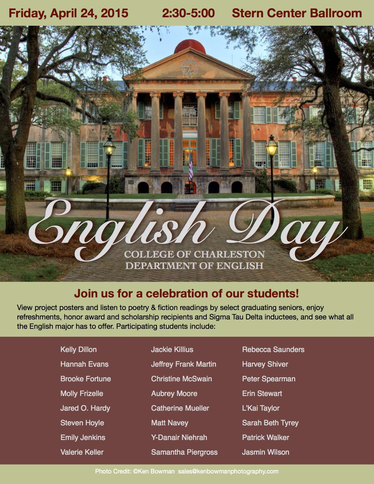 English Day 2015 flyer