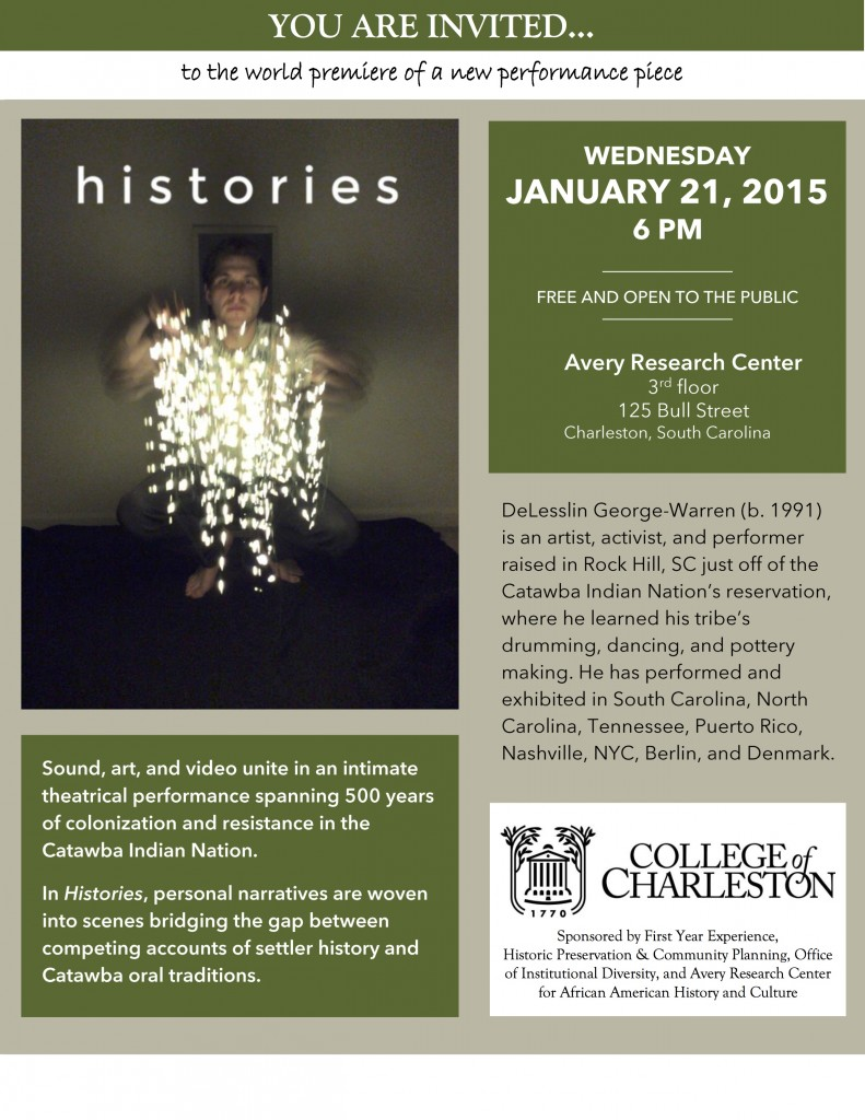 Histories - Jan. 21, 6pm - Avery