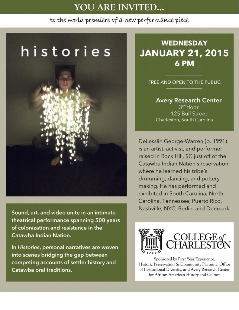 Histories - Jan. 21, 6pm - Avery