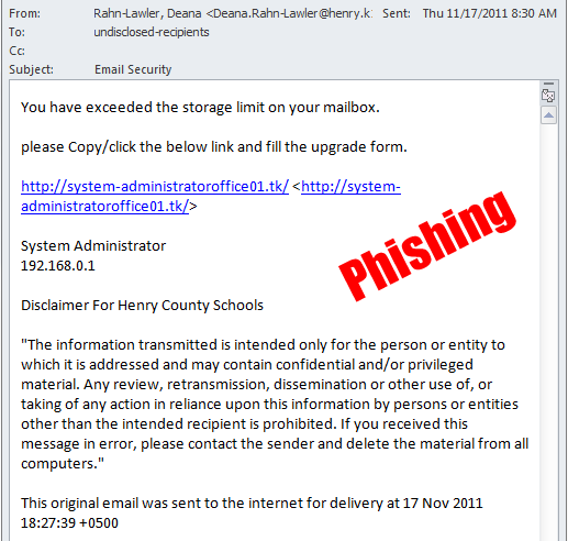 187 Gone Phishing Division Of Business Affairs