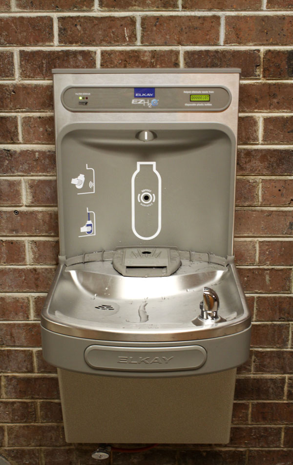 the ezh20 bottle filling station by elkay is three times faster than a traditional drinking fountain it dispenses filtered water and is easy - Elkay Drinking Fountain