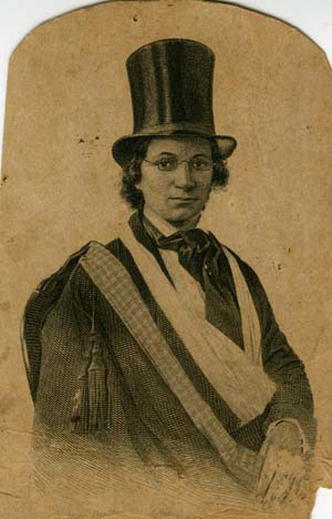 Ellen Craft dressed as a man