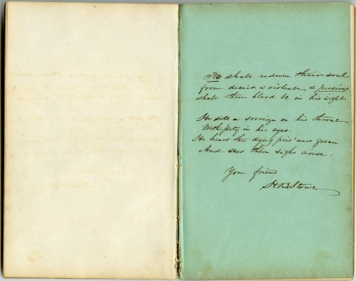 Harriet Beecher Stowe writes to the Crafts.