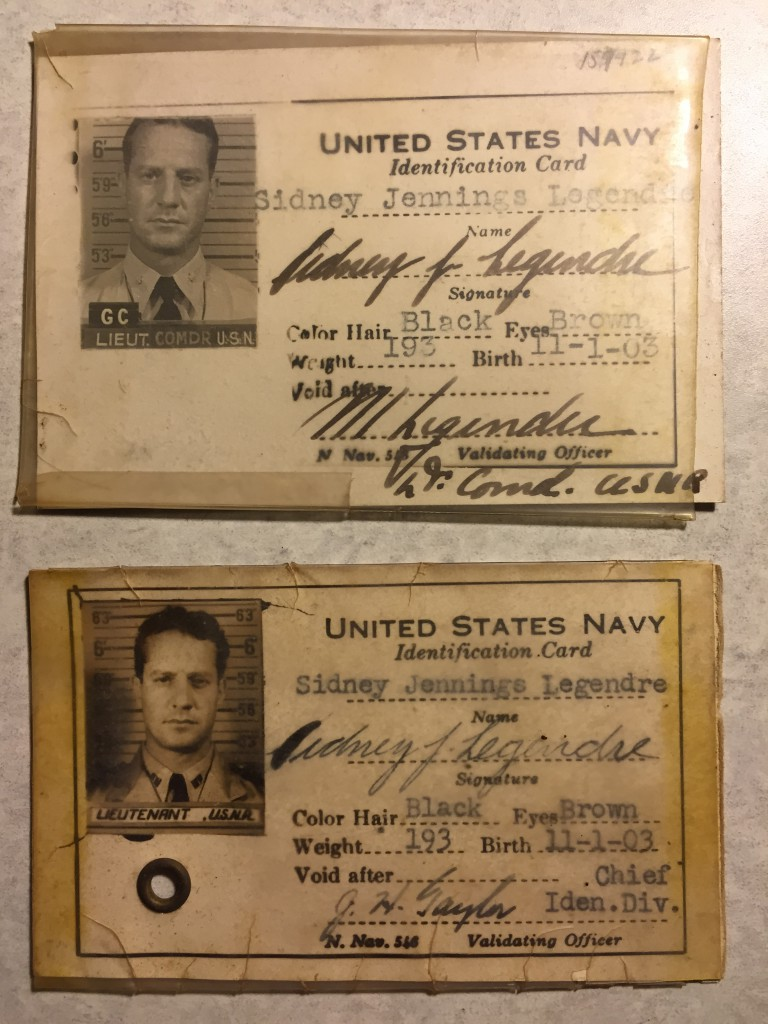 Sidney's military ID cards