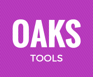 OAKS tools - listing of tutorials by tool and by their use