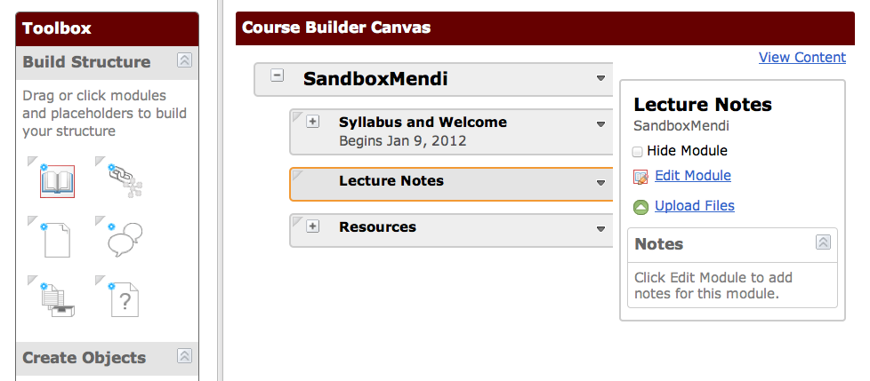 OAKS Tip:  Using the Course Builder to Design your Courses