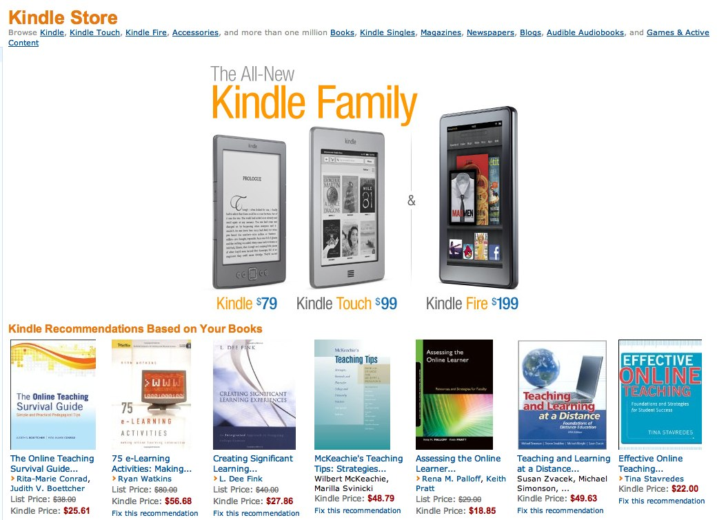 Comparing Sharing:  Lending eBooks between the Amazon Kindle and Barnes and Noble Nook