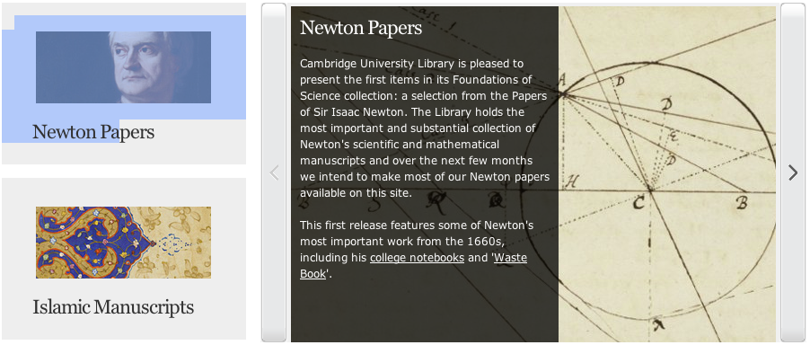 Cambridge Digital Library Posts Newton's Papers