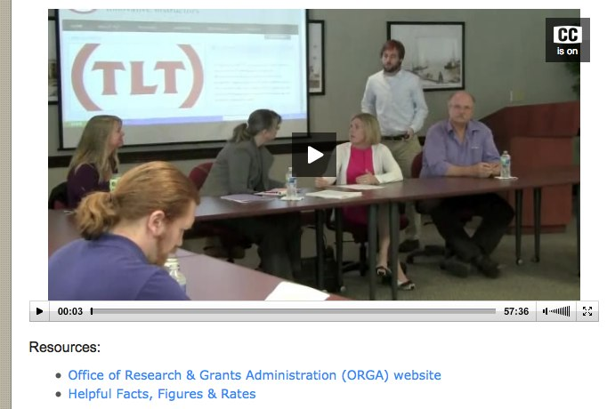 Grants Roundtable Video Available Now