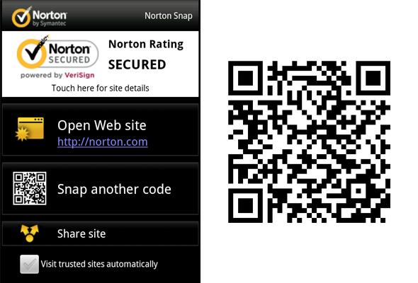 screenshot of Norton Snap