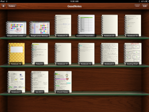 screenshot of goodnotes shelf