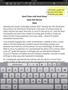 screenshot of goodnotes