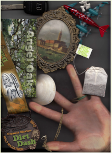 scan of a student's hand and artifacts