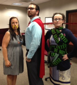 Your fun-loving Instructional Technologists: Mendi, Chris, and Kaitlin