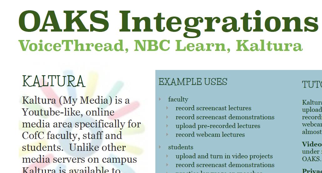 OAKS Integrations Quick Guide