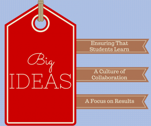 Big Ideas: student learning, collaboration, results