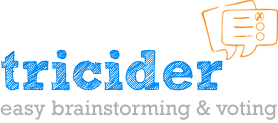 Easy Brainstorming and Voting with Tricider