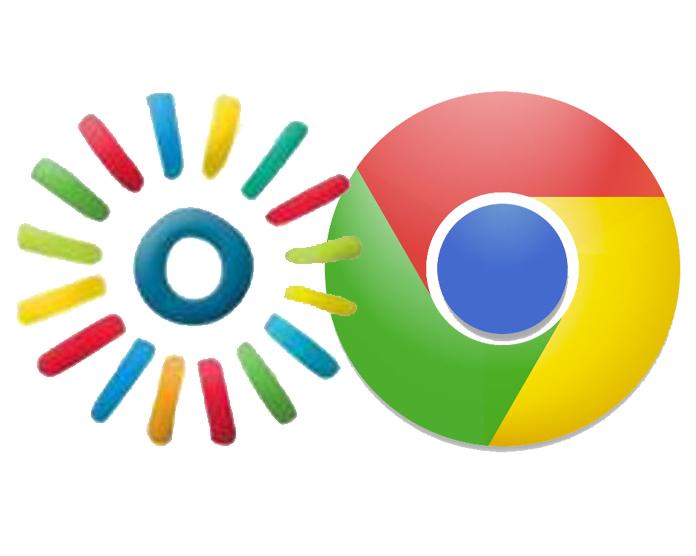 Kaltura and Chrome icons