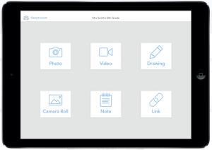 screenshot of seesaw app