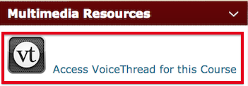 Access Voicethread through OAKS homepage