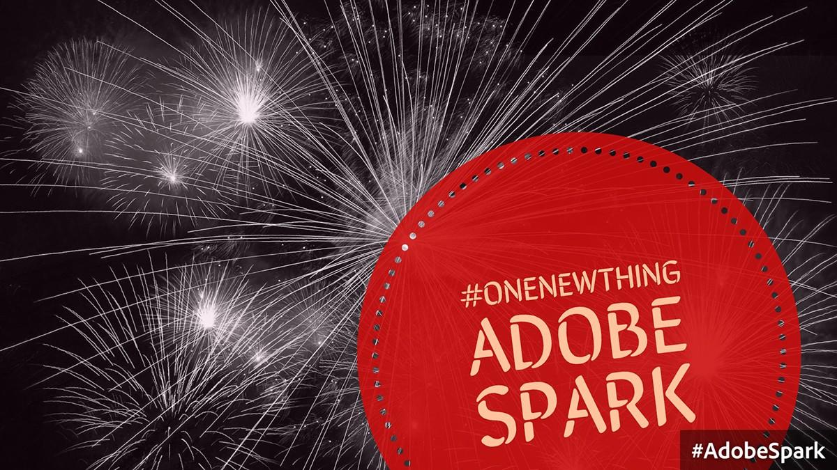 #OneNewThing – Adobe Spark