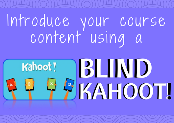 New Way To Introduce Course Content In Your Classes