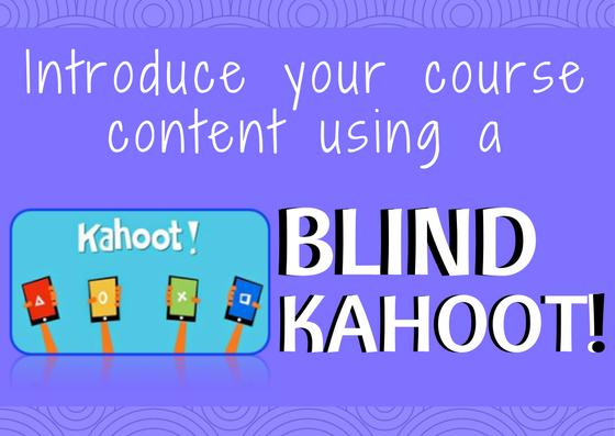 Blind Kahoot