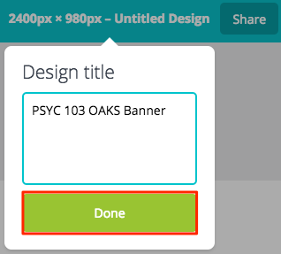 Design title