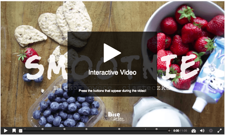 Interactive video screenshot