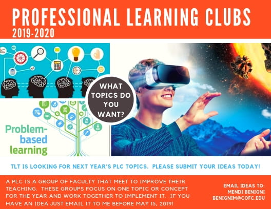 Professional Learning Clubs 2019-2020, What topics do you want?