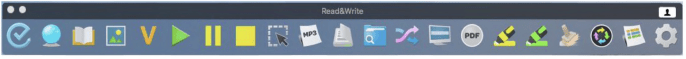 Read&Write toolbar screenshot