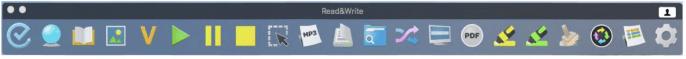 Read&Write toolbar screenshot